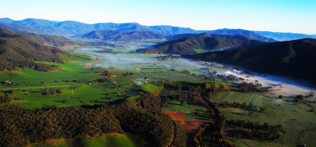 Aerial Scenery Mitta Valley